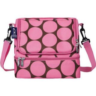 Childrens Wildkin Double Decker Lunch Bag Big Dots Hot Pink