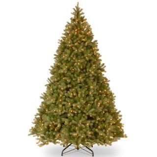 "National Tree (PEDD1 312 100) ""Feel Real"" Downswept Douglas Hinged Tree with 1000 Clear Lights, 10 Feet   Artificial Christmas Tree"