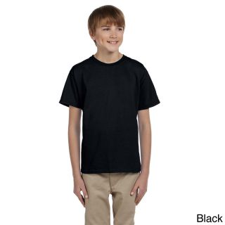 Gildan Gildan Youth Ultra Cotton 6 ounce T shirt Black Size L (14 16)
