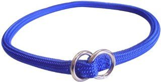 Hamilton 827 BL 5/16 Inch by 16 Inch Round Braided Choke Nylon Dog Collar, Blue  Pet Choke Collars