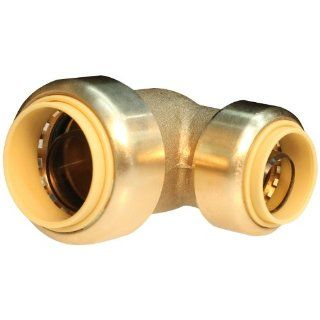 Push Connect PC LF843 3/4 Inch Push by 1/2 Inch Push, Lead Free Brass Push Fit Reducing Elbow   Pipe Fittings