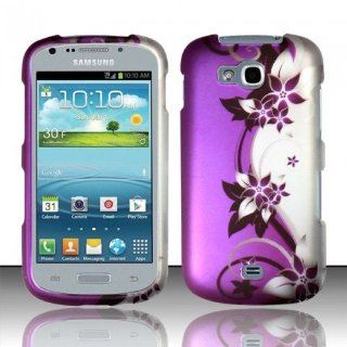 PURPLE VINES HARD CASE COVER FOR SAMSUNG ADMIRE 2 / GALAXY AXIOM R830 +GUARD [In Casesity Retail Packaging]