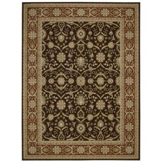 Nourison Persian Crown Dark Brown Rug (93 X 129)