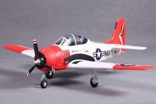 FMS 800mm T 28 Trojan V2 RC Airplane Premium RTF Durable EPO Foam   Red Toys & Games