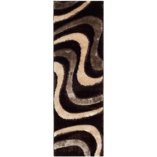 Safavieh Shag Brown/ Beige Rug (23 X 9)