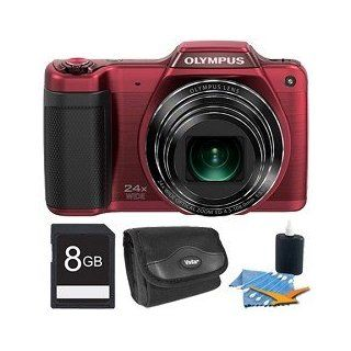 STYLUS SZ 15 16MP 24x SR Zoom 3 inch Hi Res LCD   Red Plus 8GB Memory Kit. Kit Includes 8GB Memory Card, Deluxe Carrying Case, and 3pc. Lens Cleaning Kit.  Camera & Photo