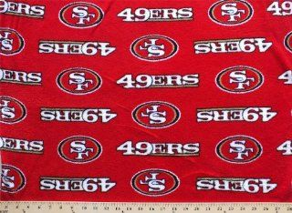 Coral Cuddle Micro Plush San Francisco 49ers NFL Football Fabric Print c6410df