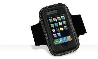 "Apple iPhone 3G Black Adjustable Wrist / Armband Sports Case Cover (FITS UP TO 15"" BICEP) with Screen Protector Cell Phones & Accessories"