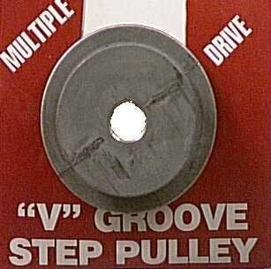 "Bore V groove 4 Step Pulley, 1/2"" Garden, Lawn, Supply, Maintenance  Lawn And Garden Spreaders  Patio, Lawn & Garden"
