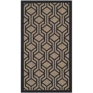 Safavieh Indoor/ Outdoor Courtyard Brown/ Black Rug (27 X 5)
