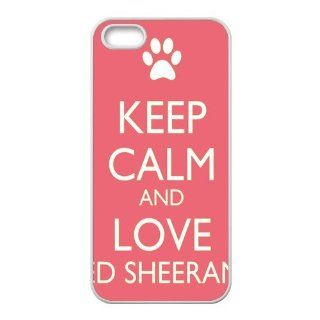 PhoneCaseDiy Personalized Pop Music Ed Sheeran Design Case With TPU Sides Durable Custom Cases For iphone 5/5s Ip5 AX70903 Cell Phones & Accessories