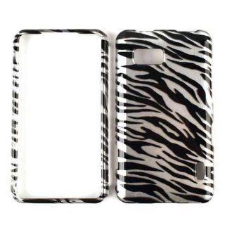 LG MACH LS 860 TRANSPARENT BLACK WHITE ZEBRA TP CASE ACCESSORY SNAP ON PROTECTOR Cell Phones & Accessories