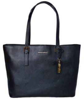 Cynthia Rowley Black Leather Tote Bag Purse Clothing