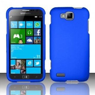 For Samsung ATIV S T899m (T Mobile) Rubberized Cover Case   Blue Cell Phones & Accessories