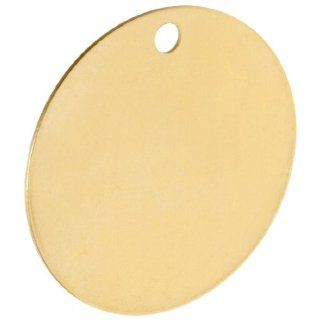 "Brady 23211 2"" Diameter B 907 Brass Round Blank Brass Valve Tags (Pack Of 25) Industrial Warning Signs"