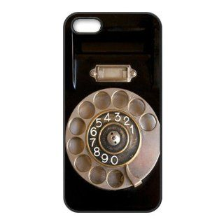 Retro Rotary Telephone iPhone Case Cover Rubber with bumper protection for Apple iPhone 5 Cell Phones & Accessories