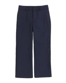 Wool Twill Flat Front Pants, Navy, Sizes 4 7   Ralph Lauren Childrenswear