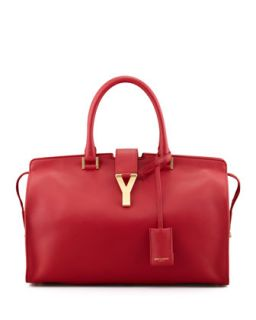Y Ligne Soft Leather Bag, Red   Saint Laurent