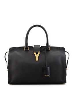Y Ligne Soft Leather Bag, Black   Saint Laurent