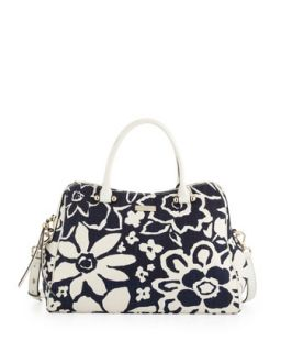 charles street audrey floral print tote bag, french navy   kate spade new york