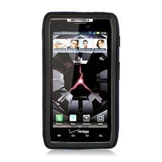 Eagle Cell PAMOTXT913SPSTBKBK Advanced Rugged Armor Hybrid Combo Case with Kickstand for Motoroal Droid Razr Maxx XT913   Retail Packaging   Black/Black Cell Phones & Accessories