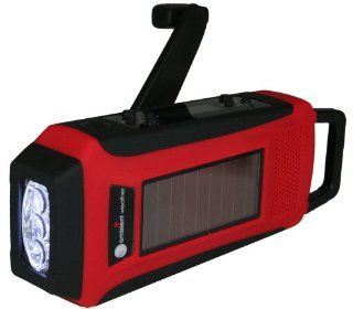 Ambient Weather WR 099 Compact Emergency Solar Hand Crank AM/FM/WeatherBand Digital Radio, Flashlight, Cell Phone Charger and Cables