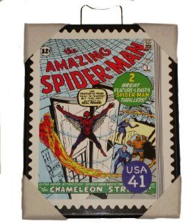 The Amazing Spider Man (MArel Comics) Decorative Plaque   Postage Stamp Style