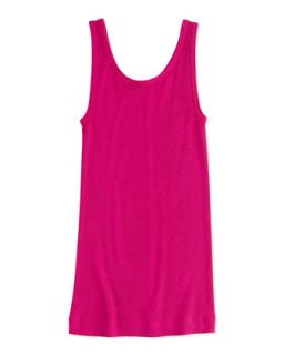 Girls Favorite Ribbed Tank Top, Fuchsia, S XL   Vince