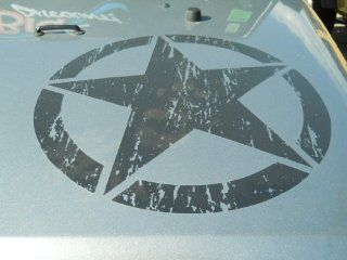 2012+ Jeep Wrangler Black Freedom Edition Star Rear Fender & Hood Decal Sticker Automotive