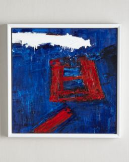 Red Square Abstract Giclee Print   RFA Fine Art