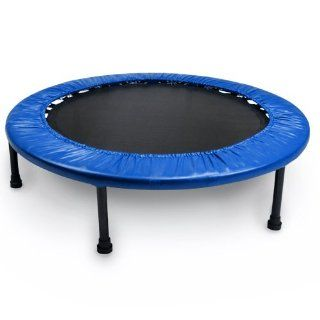 Crown Sporting Goods Mini Rebounder Trampoline, Blue, 38 Inch  Exercise Trampolines  Sports & Outdoors