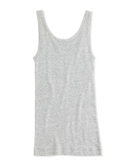 Girls Favorite Ribbed Tank Top, Heather Gray, 4 6X   Vince