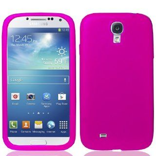Bundle Accessory for Samsung Galaxy S4 i9500   Pretty Pink Silicone Rubber Skin Designer Protective Soft Case Cover + MyDroid Transparent Decal Cell Phones & Accessories
