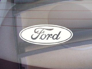 "Ford Logo Car Window Vinyl Decal Sticker 5"" Wide (Color White)"