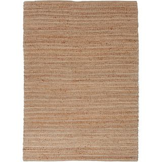 Handmade Naturals Solid Pattern Brown Rug With 0.4 inch Pile (5 X 8)