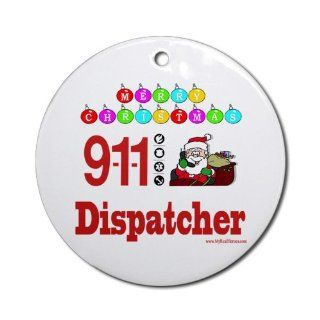Shop 911 Dispatcher Christmas Gift Ornament Round Round Ornament at the  Home D�cor Store
