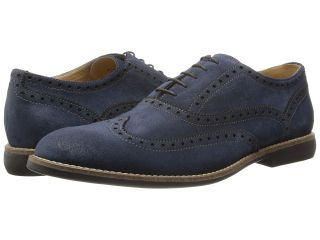 Kenneth Cole Reaction Why I Oughta Mens Lace Up Wing Tip Shoes (Blue)