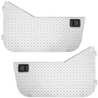 Front Half Doors (pair) Diamond Plate Warrior 2007 2010 Jeep Wrangler JK & Wrangler Unlimited JK # WAR920DOOR Automotive