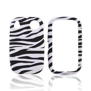 BLACK WHITE ZEBRA Rubberized Hard Case For Palm Pre 2 Cell Phones & Accessories