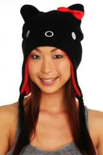 Hello Kitty Black Peruvian Beanie Clothing