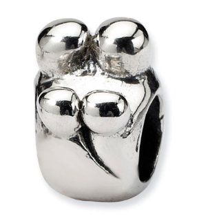 925 Sterling Silver Charm Family of Four Jewelry Bead Jewelry