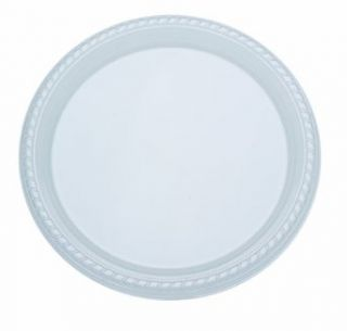 "Solo PST15 0099 Ultra Clear Heavy Weight Polystyrene Plastic Dinnerware Plate, 10 19/64"" Diameter x 51/64"" Height, Clear (Case of 500)"
