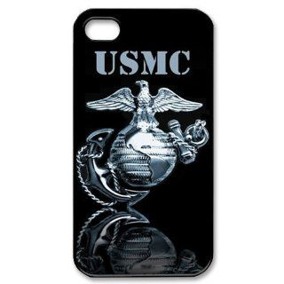 Personalized Marine Corps Hard Case for Apple iphone 4/4s case BB094 Cell Phones & Accessories