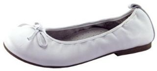 Enzo Little Kid/big Kid Skimmer Ballet Flat, white, (Us Big Kid 3.5 M) Shoes