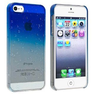 eForCity Clear Dark Blue Waterdrop Raindrop Hard Case Compatible With Apple iPhone 5 Cell Phones & Accessories