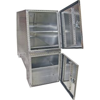 Buyers Products Aluminum Heavy-Duty Backpack Truck Box — Diamond Plate, 82in.L x 55in.W x 24in.H, Model# BP825524  Rack Boxes