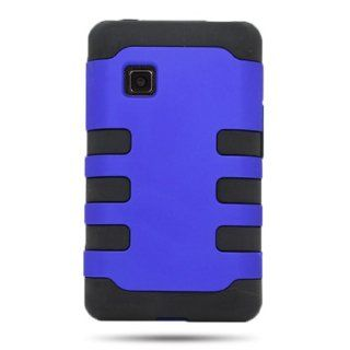 CoverON� HYBRID Dual Heavy Duty Hard BLUE Case and soft BLACK TPU Cover for LG 840G With PRY  Triangle Case Removal Tool [WCC940] Cell Phones & Accessories