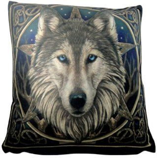 Lisa Parker Wild One Pentagram Wolf Luxury Cushion Pillow Gothic Bedding Now8160   Throw Pillows