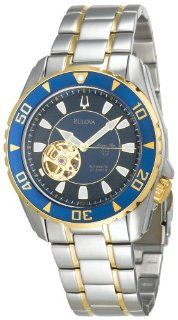 Bulova Men's 98A106 Marine Star Automatic Two Tone Stainless Steel Watch at  Men's Watch store.