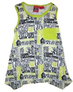 Monster High Girls Sleeveless Tank Top Shirt (14/16, Green) Clothing